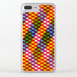 Shifting cubes Clear iPhone Case