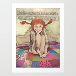 Pippilotta Viktualia Rullgardina Krusmynta Efraimsdotter Långstrump (Hija de Efraim Långstrump). Art Print
