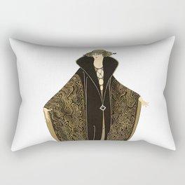 """Art Deco """"The Golden Cloak"""" Design by Erté Rectangular Pillow"""