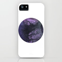 The Purple Planet iPhone Case
