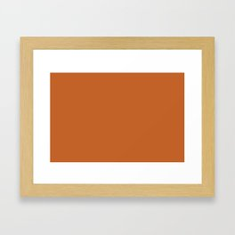 Pantone 17-1145 Autumn Maple Framed Art Print