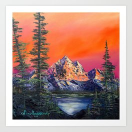 Mountains in Canada Art Print