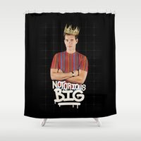notorious big Shower Curtains featuring Notorious BIG by Alpha-Tone