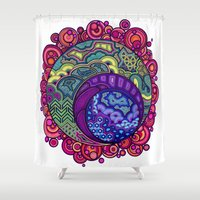 cosmic Shower Curtains featuring Cosmic by Susan Gottardi