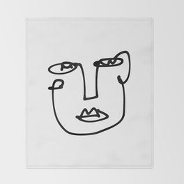 Faces Collection - Franca Throw Blanket