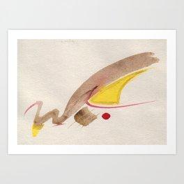 Goldschwan Art Print