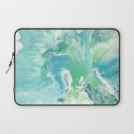 Breathe Blue Abstract Print Laptop Sleeve