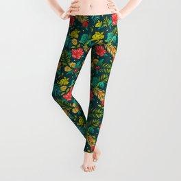 Tropical flowers Leggings