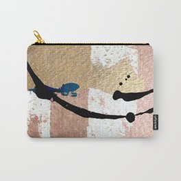 01014: pink, gold, and white abstract Carry-All Pouch