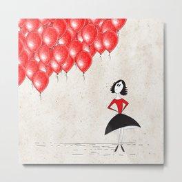 99 red balloons Metal Print