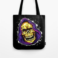 evil Tote Bags featuring EVIL by DesecrateART (Infected)