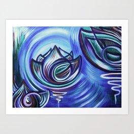 Lotus Ripple Art Print