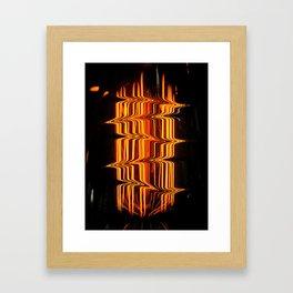 Lightning Bulb Framed Art Print