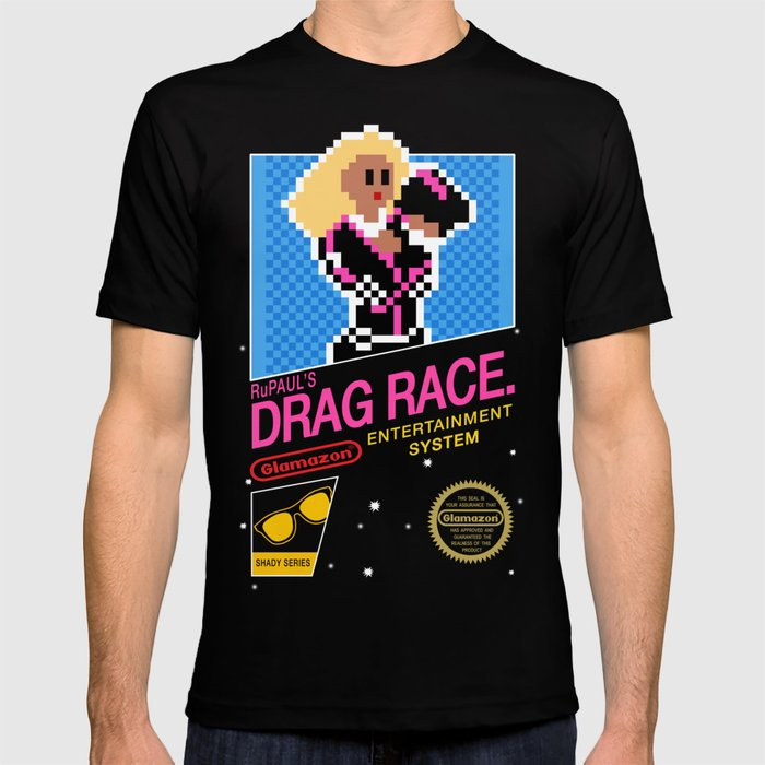 Rupaul's Drag Race - 8 Bit NES T-shirt by thehausofayr