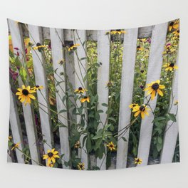 Fenced In Black Eyed Susans Wall Tapestry