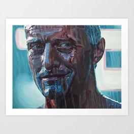 Rutger Hauer as Roy Batty, Tears in Rain. Blade Runner, Sci Fi Classic. Acrylic Art Print