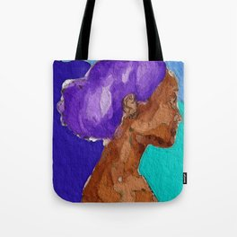 Purple Afro Tote Bag