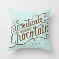 Chocolate RX Throw Pillow