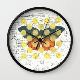 Butterfly in dots Wall Clock