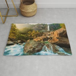 Rocky Waterfall (Color) Rug