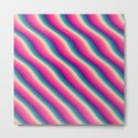 Abstract Color Burn Pattern - Geometric Lines / Optical Illusion in Rainbow Acid Colors by badbugsart