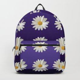 Daisies (blue-purple background) Backpack