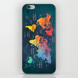 world map 49 color iPhone Skin