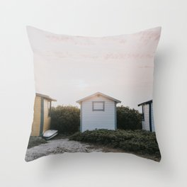 Summer at the beach II - Landscape and Nature Photography Throw Pillow