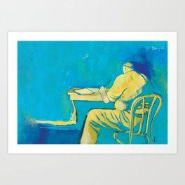 THE WRITER Art Print