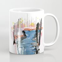 river Mugs featuring River by Halfmoon Industries