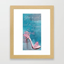 Shoe Framed Art Print