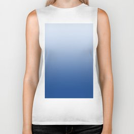 Pastel Blue to Blue Horizontal Linear Gradient Biker Tank