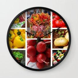Garden Fresh Vegetables - Kitchen Decor Wall Clock