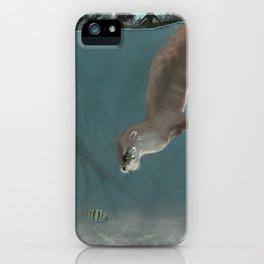 Otter in a Mangrove, Costa Rica iPhone Case
