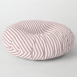 Vintage New England Shaker Barn Red Milk Paint Mattress Ticking Vertical Narrow Striped Floor Pillow