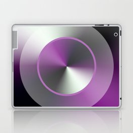 Serene Simple Hub Cap in Purple Laptop & iPad Skin