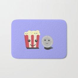 Cinema movie pocorn with faces Bath Mat