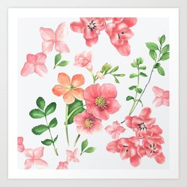 Colorfull spring flowers Art Print