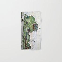white green paint rust metal texture pattern Hand & Bath Towel