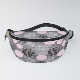 Circles, Dots, Nordic Pattern, Abstract Background Fanny Pack