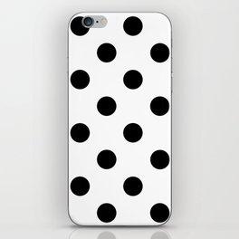 Polkadot (Black & White Pattern) iPhone Skin