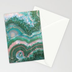 Teal & Pink marble Stationery Cards