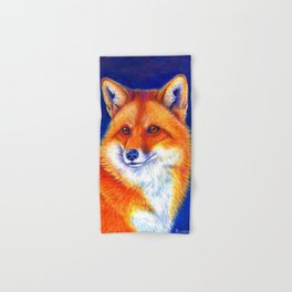 Colorful Red Fox Portrait Hand & Bath Towel