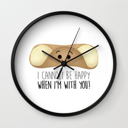 I Cannoli Be Happy When I'm With You! Wall Clock