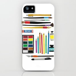 Art Supplies Collage iPhone Case