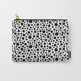 Hand drawn polka dot pattern - Black Carry-All Pouch