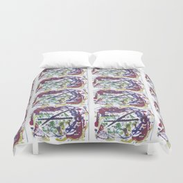 BACH `Oboe d'amour'             by Kay Lipton Duvet Cover