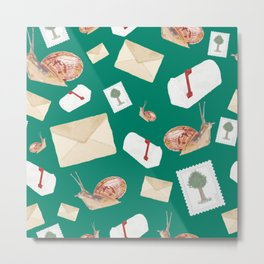 Snail Mail - Teal Metal Print