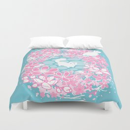 Spring Greeting Duvet Cover