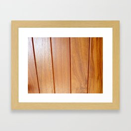 Wood 4 Framed Art Print
